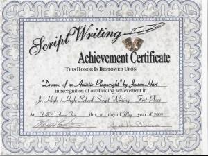Screenwriting Award